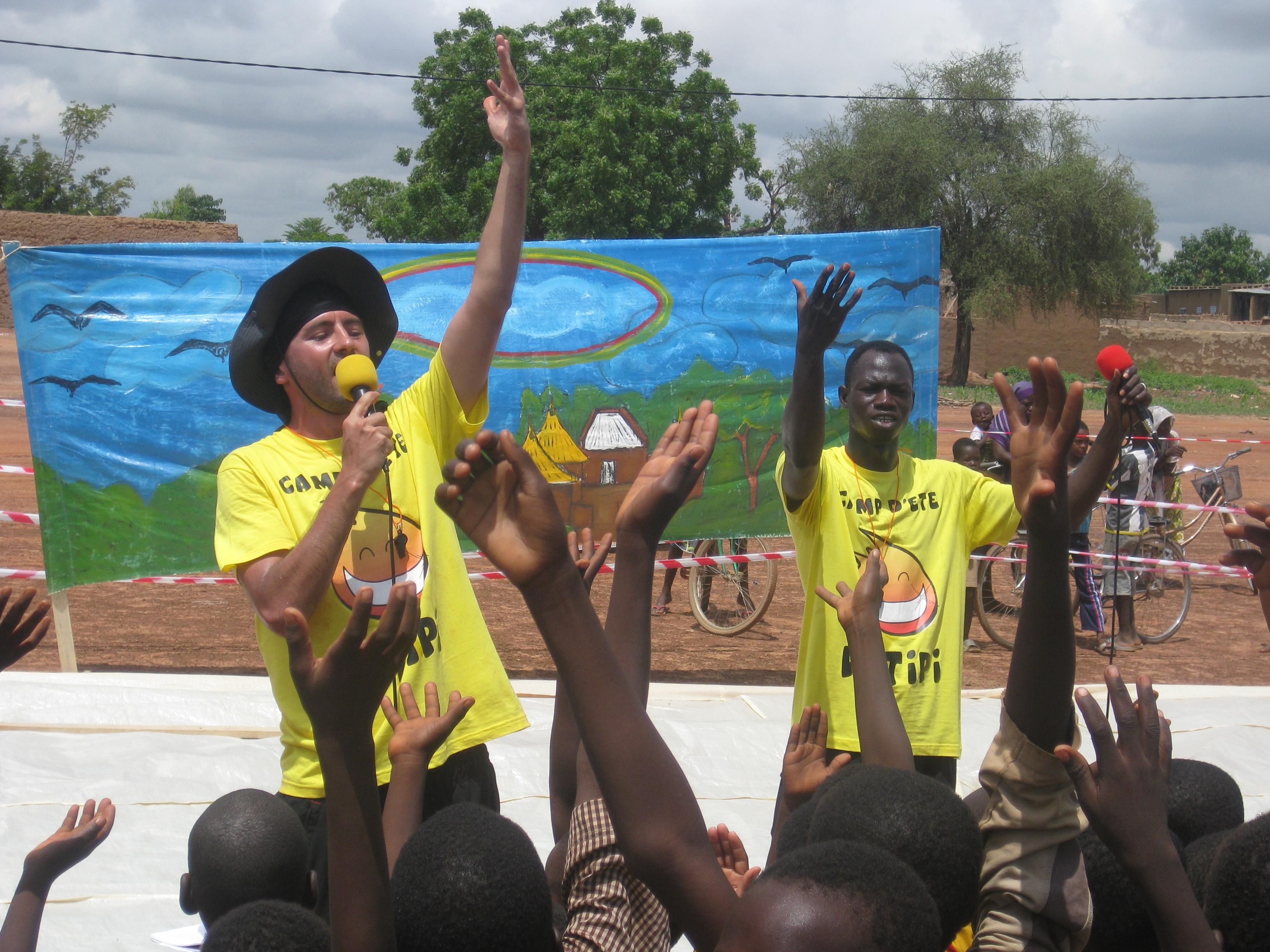 Animation de rue à Ouagadougou